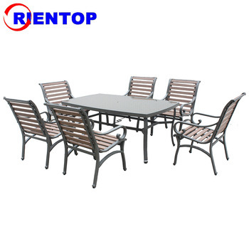 China 7pcs High Quality Polywood Patio Outdoor Garden Dining Set