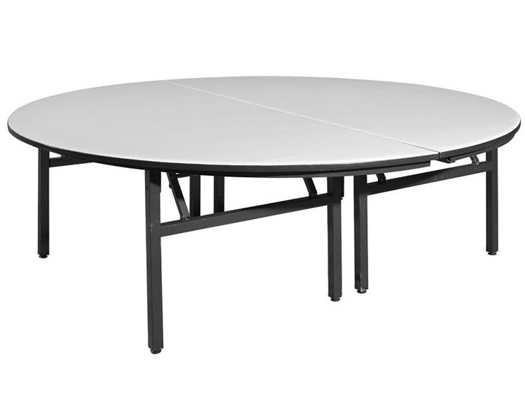 Ultra Size Combination Hotel Restaurant Folding Banquet Round Table with Polywood Top Metal Frame pictures & photos