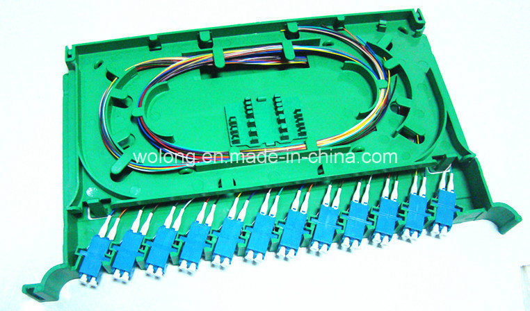 China 24 Core LC Pigtail in Fiber Optic Splice Tray for Fiber Optic ...