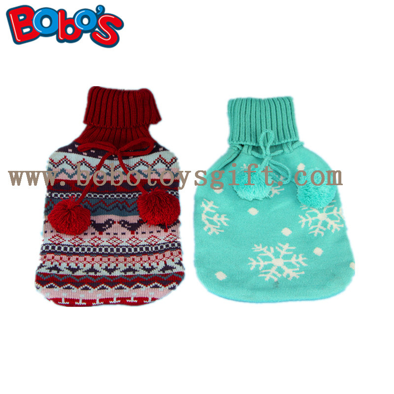 China New Design Knitted Hot Water Bag Cover with POM POM Ball ...