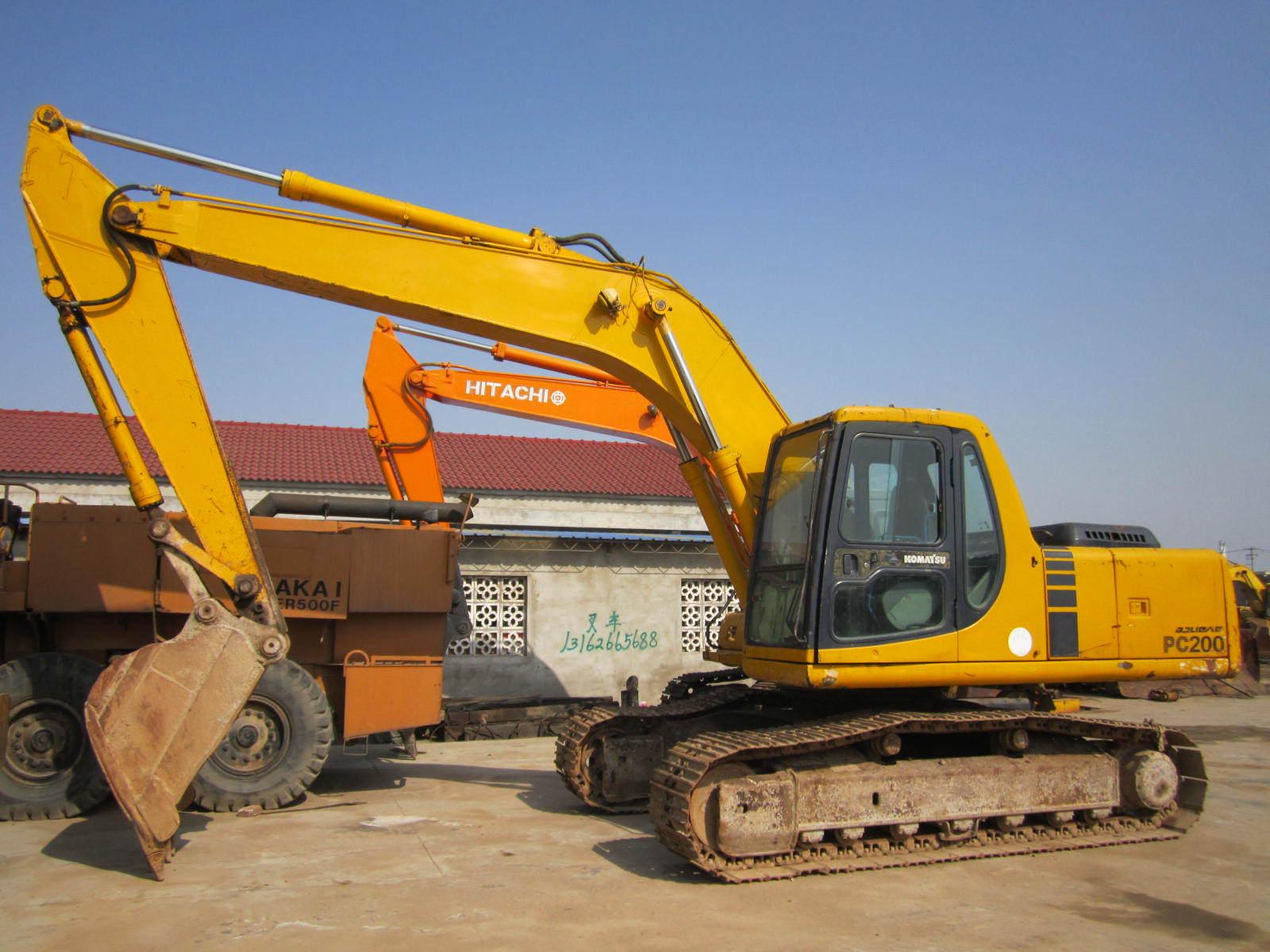 Used Excavator Original Komatsu PC200-6