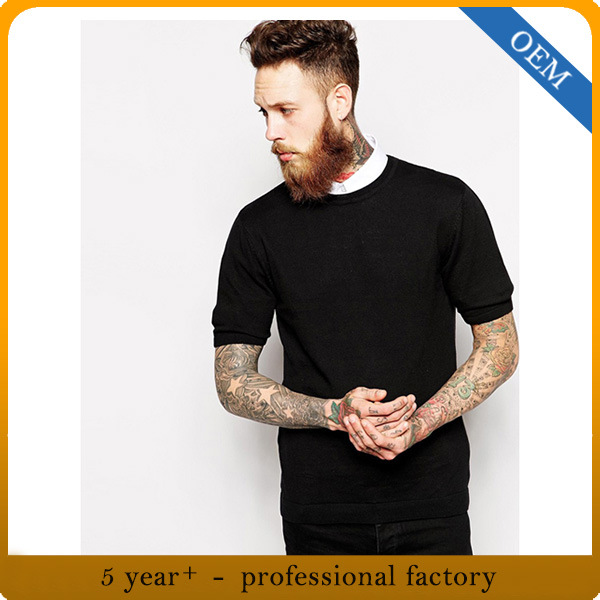 new selection various styles new season [Hot Item] Wholesale Mens Round Neck Short Sleeve Plain Black T Shirt
