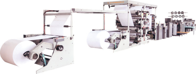 High Speed Flexo Printing and Saddle Stitch Machine for Notebook