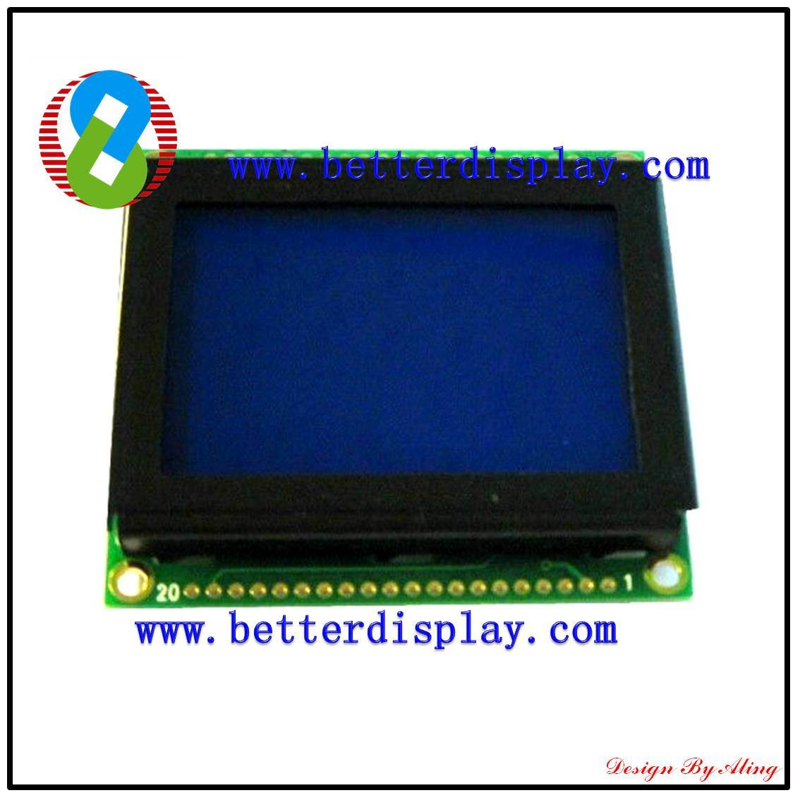 LCD Display Stn Blue Negative LCM Standard Graphic Module LCM