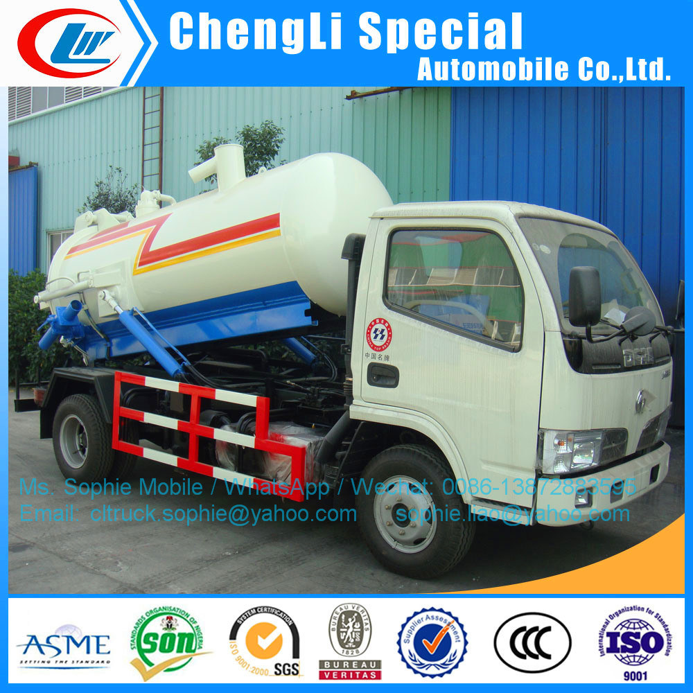 [Hot Item] 3000liters Sewage Cleaning Tank Truck for Urban Septic Tank  Trucks for Sale Sewage Suction Vehicle Fecal Sucking Truck