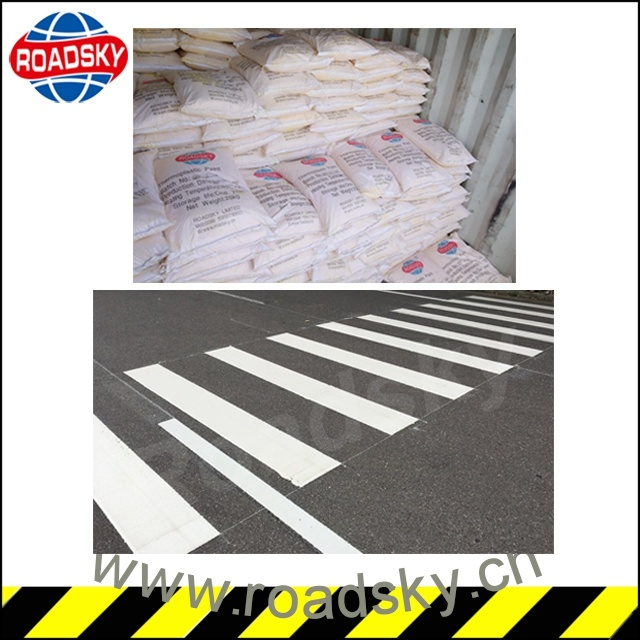 White and Yellow Reflective Traffic Line Thermoplastic Road Marking Paint pictures & photos