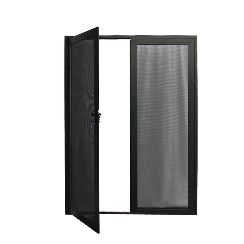 China Aluminum Frame Stainless Steel Double French Screen Door