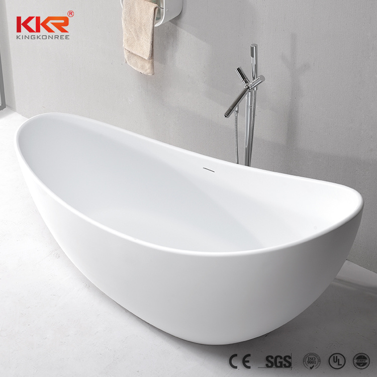 China Cheap Price Solid Surface Oval Shape Freestanding Bathtub ...