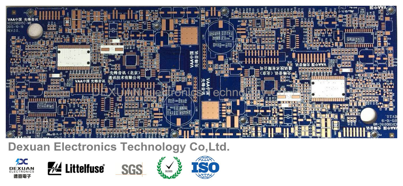 China High Quality Printed Circuit Board Pcb With Blue Solder Mask Boards Manufacturer Technology Solutions For Communication Divice