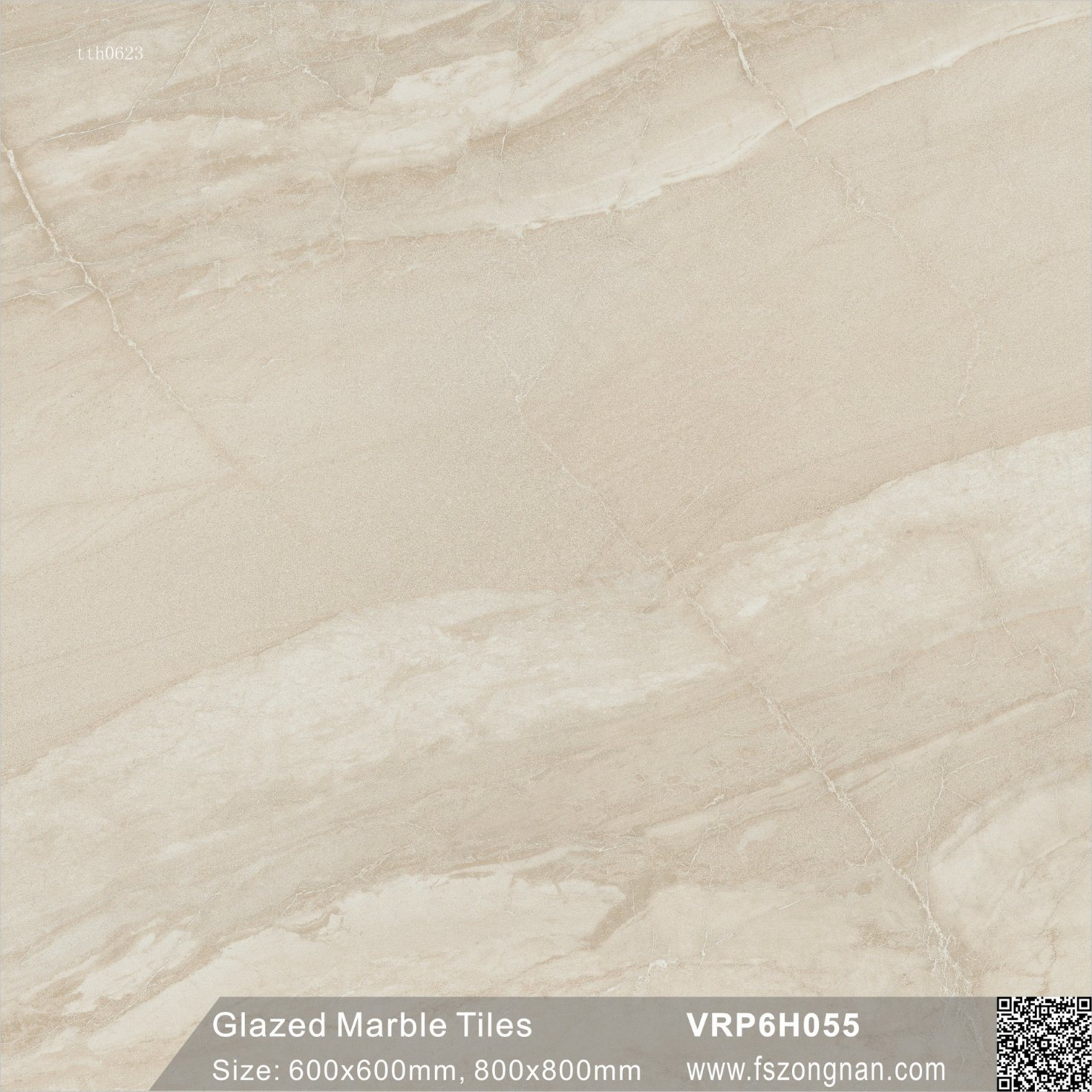 China Foshan Ivory Glazed Marble Polished Porcelain Floor Tile Vrp6h055 600x600mm