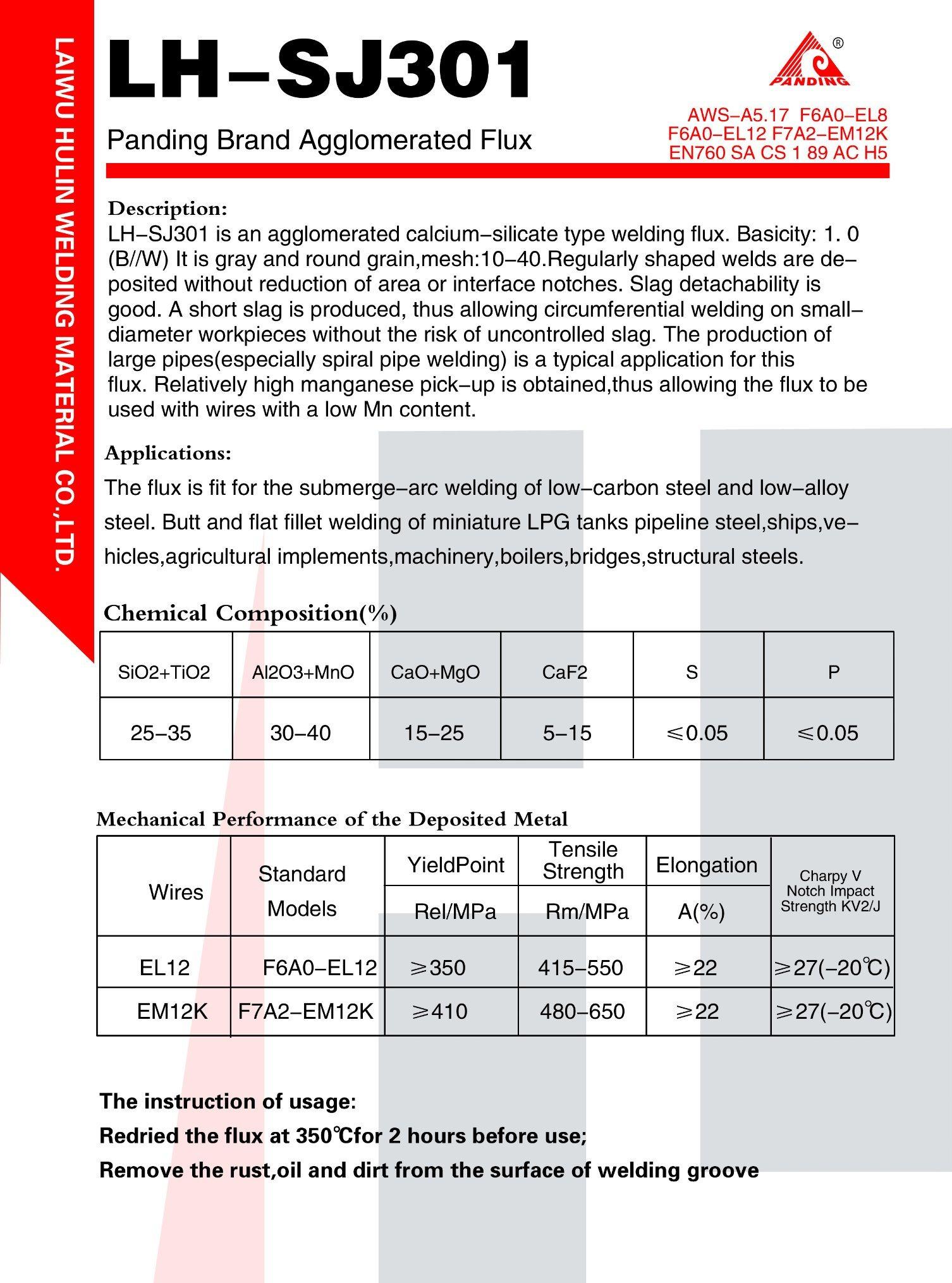 China Aluminate-Basic Saw Welding Flux/ En 760: SA Ab 1 66 AC H5 ...