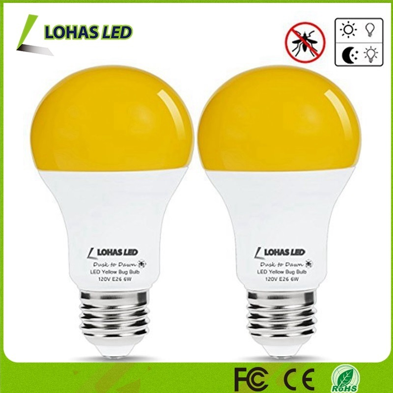Africa America Market Popular A19/A60 6W Mosquito Repellent Lamp LED Yellow Bug Light Bulb pictures & photos