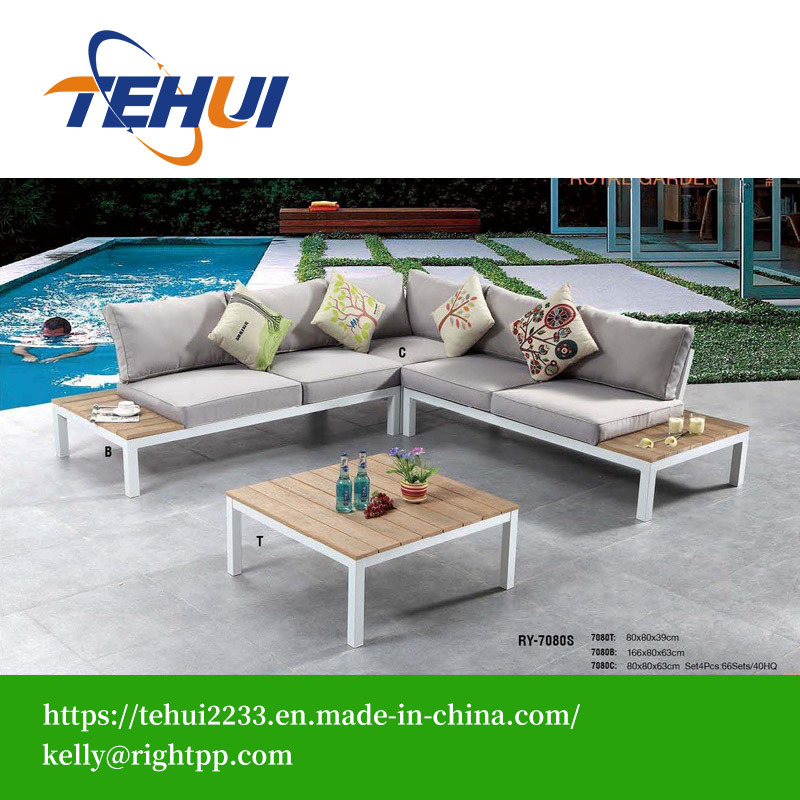 China Modern Hotel Patio Corner Aluminum L Shaped Sectional Sofa And Table  Set Home Outdoor Garden Sofa Furniture   China Garden Chair, Dining Chair