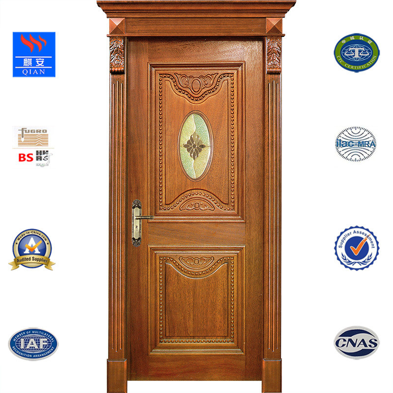China Hot Sale Interior Doors Pvc Mdf Skin Membrane Solid Wood Door
