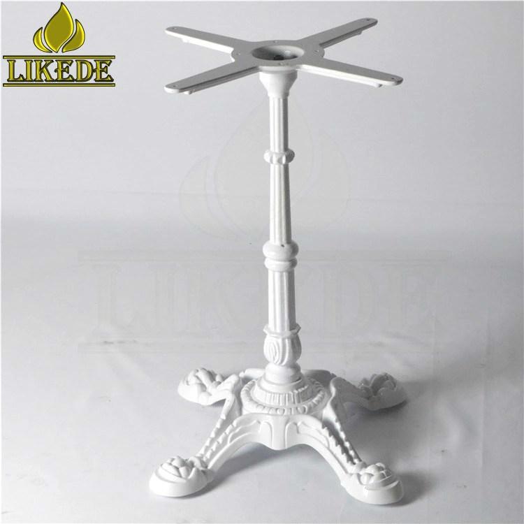 Table Base Leg White Antique Cast Iron