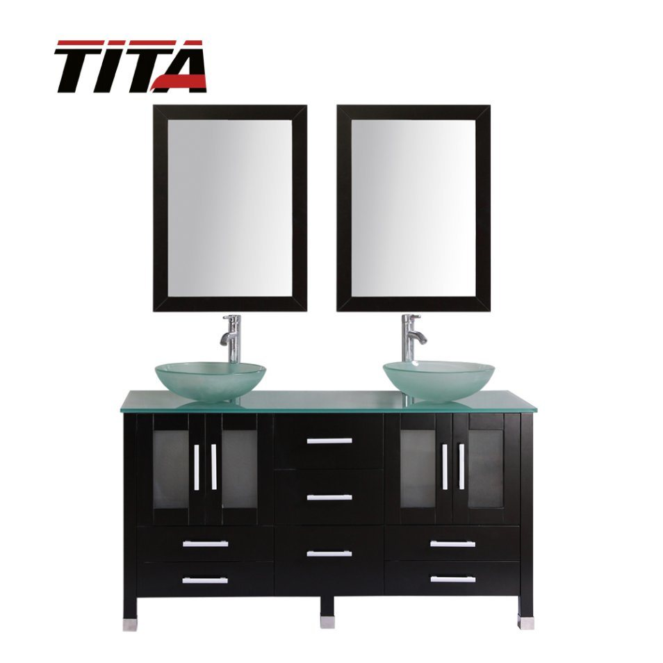 China Double Sink Bathroom Vanity