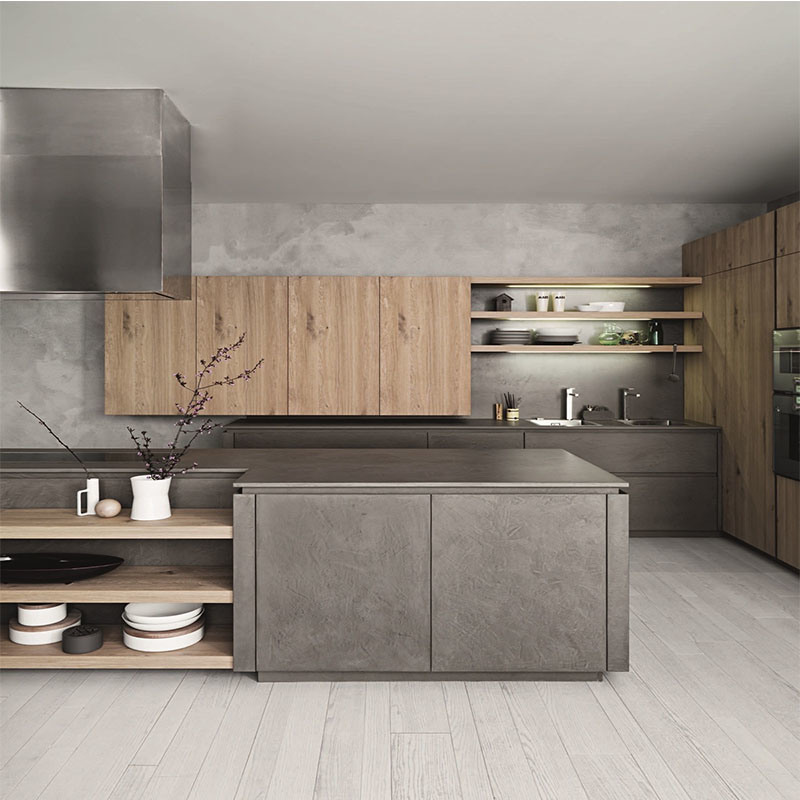 China Laminated Plywood Kitchen Cabinet Furniture Commercial
