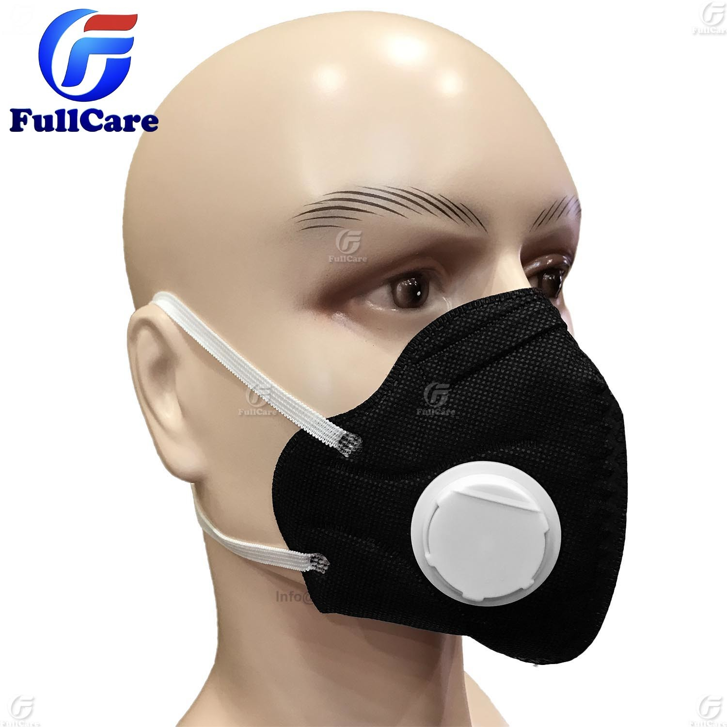 Anti-pollution Dust Respirator Non-woven Anti-haze Valved Item activated Carbon Mouth Folding Mask With hot Face Valve Valve
