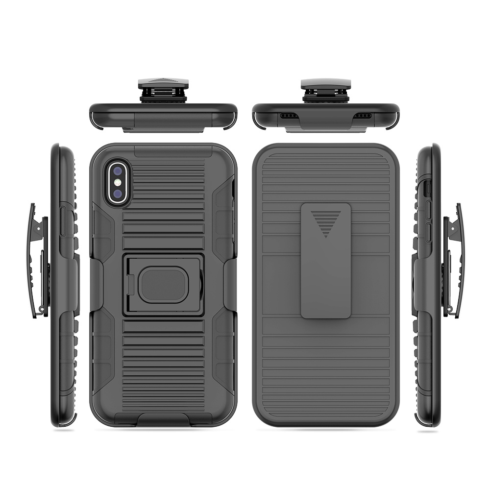 size 40 2305d 8e6e9 [Hot Item] Custom Mobile Housing Cool Mobile Phone Cases 3 in 1 Stand  Holster Combo Case with Swivel Spring Belt Clip for iPhone Models