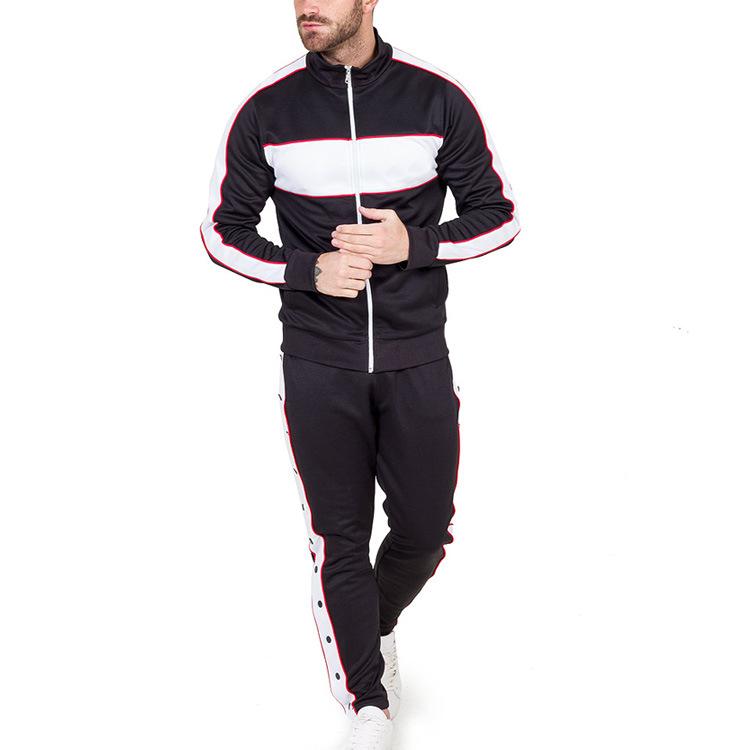 [Hot Item] Custom Sport Bulk Wholesale Slim Fit Tracksuit Mens Zipper Suits