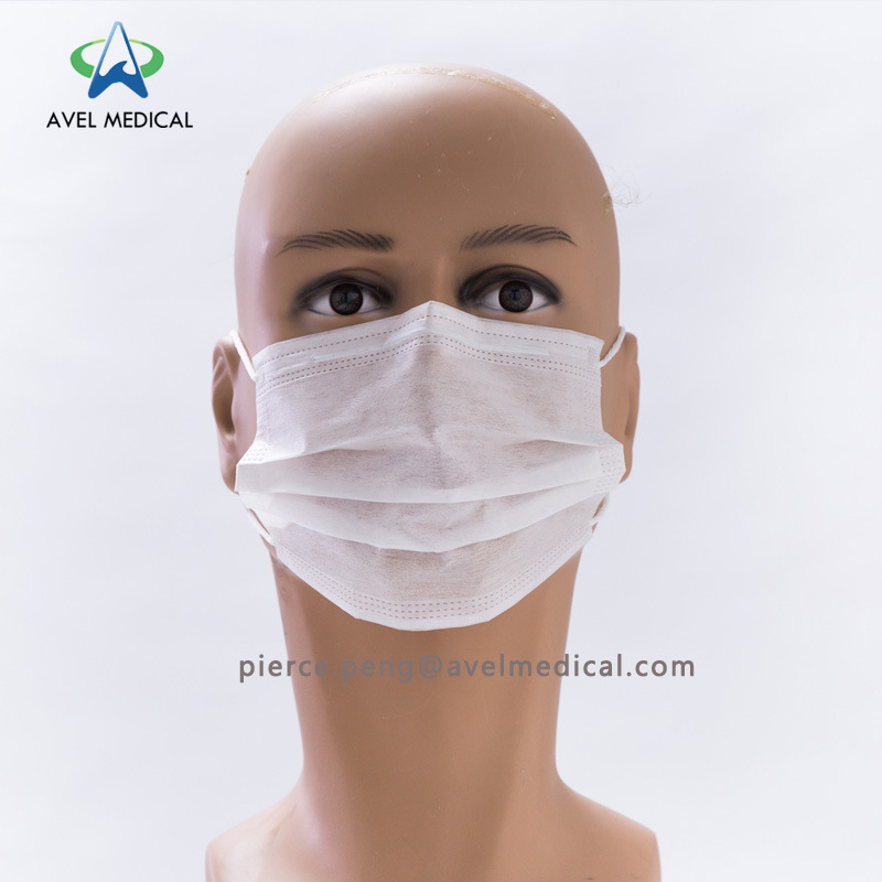 disposable face mask white
