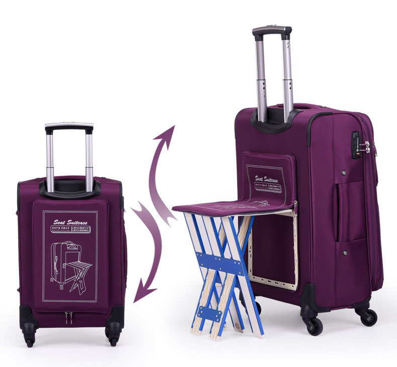 0d4ce1728304 [Hot Item] Trolley Wheeled Luggage Business Travel Bag Case with Small Seat  (CY3405)