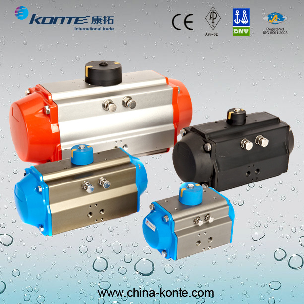 at Rack and Piston Pneumatic Actuator with Double Acting pictures & photos