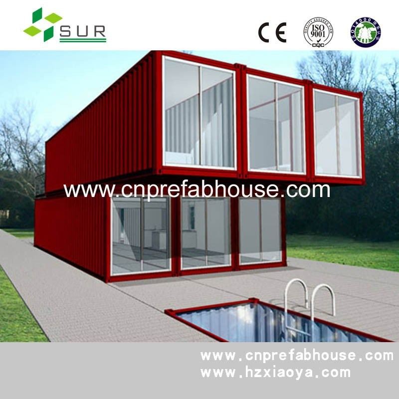 Building Container Homes Cost: China 20FT Luxury Prefab Shipping Container Homes Prices