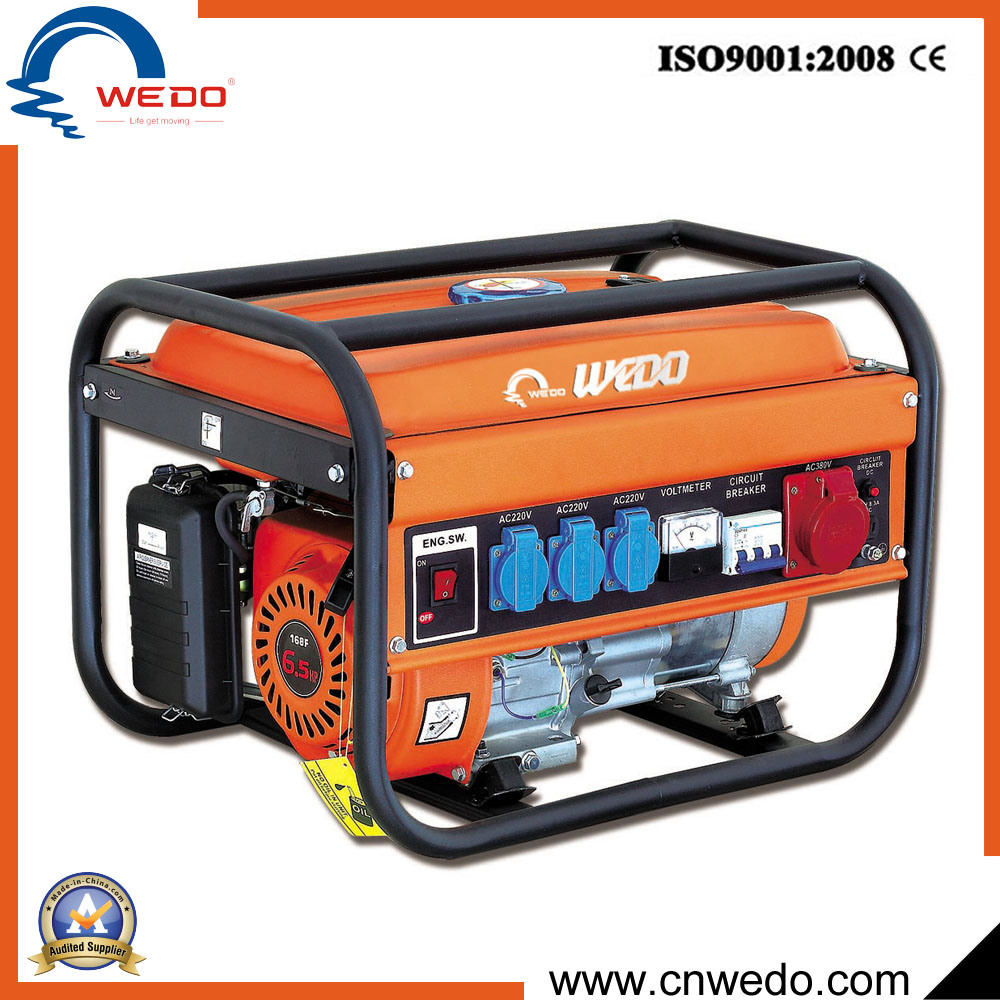 China 2kva 2kw 25kw 28kw 4 Stroke 3 Phase Portable Gasoline Petrol Circuit Breaker Generators With Ce 168f Generator