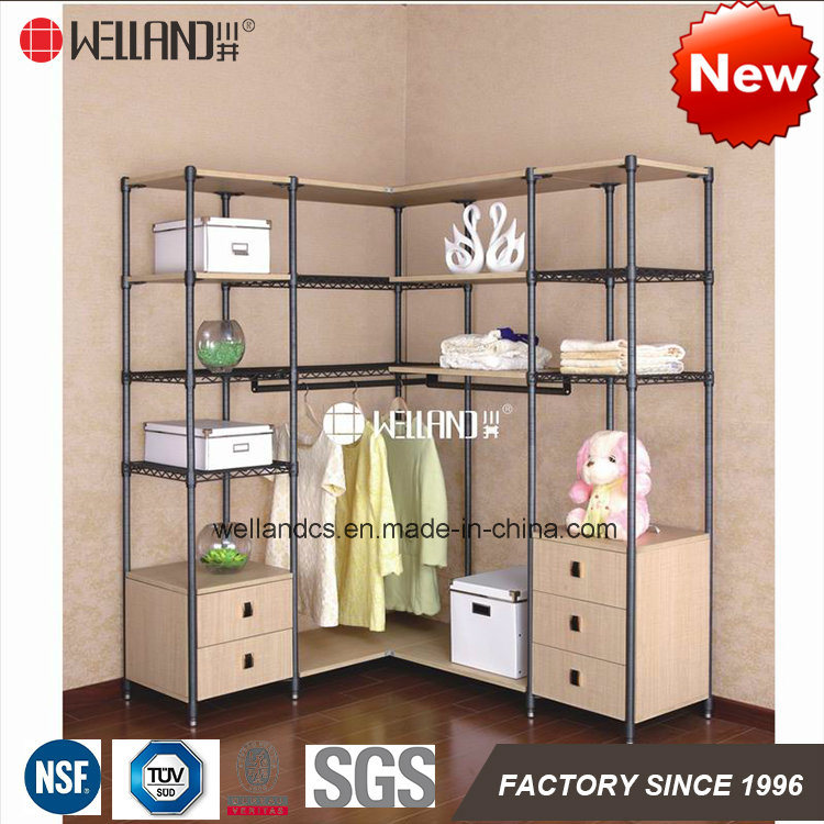 China Patent Multi Functional Diy Bedroom Clothes Wardrobe Storage Cabinet Furniture Made Of Steel Shelf Wooden Cabinets