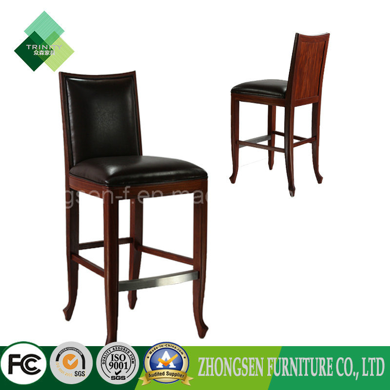 China Antique Style Wooden Frame Bar Stool High Chairs For Sale