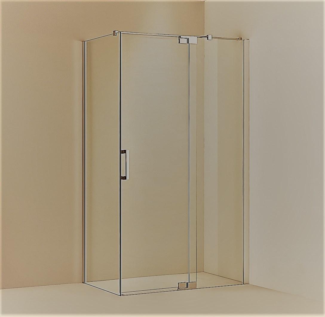 Hot Item L Shape Frameless Pivot Shower Enclosure