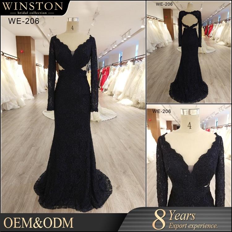 China 2018 New Fashion Wholesale Black Designer Evening Dress Patterns China Dress And Evening Dress Price