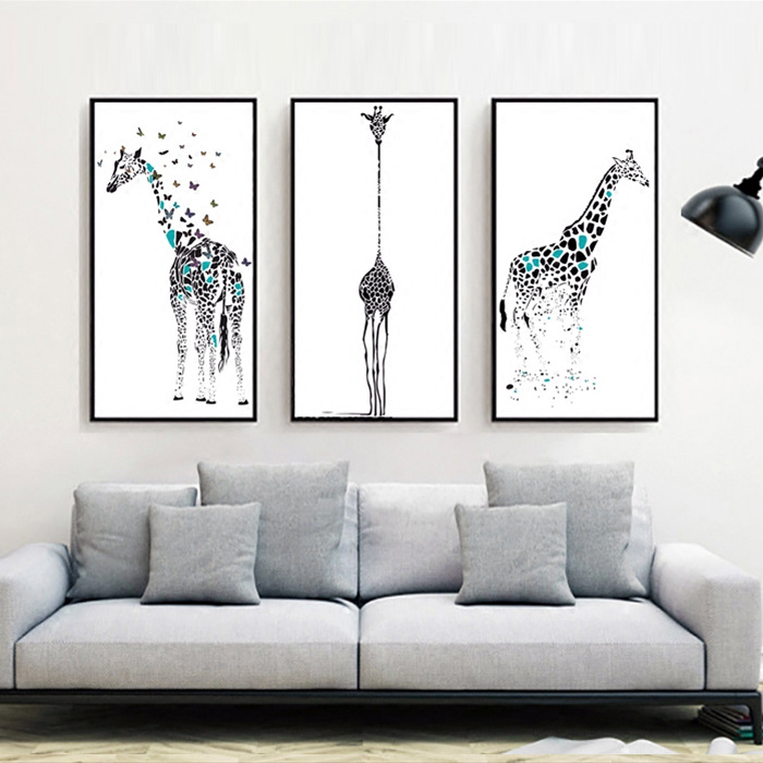 Modern Wall Art Oil Painting Animal Giraffe Canvas Art Prints pictures & photos