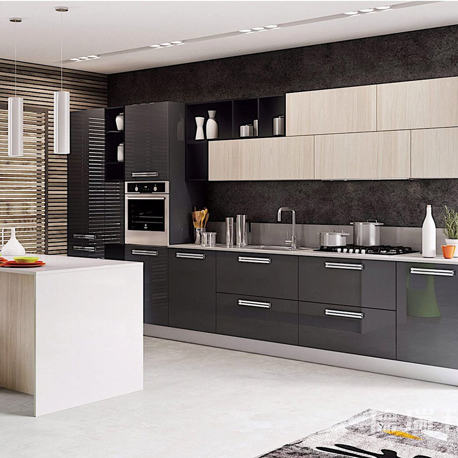 New Home Designs Latest Modern Home Kitchen Cabinet: China Modern Simple Wood Modular Kitchen Cabinet Indoor