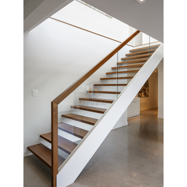 Modern Wood Handrail Gl Railing Wooden Steps Staircase