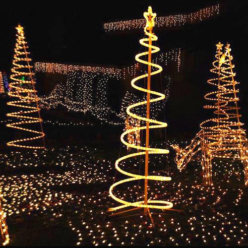 Waterproof LED Rope Light Motif Decoration LED Christmas Tree Lights