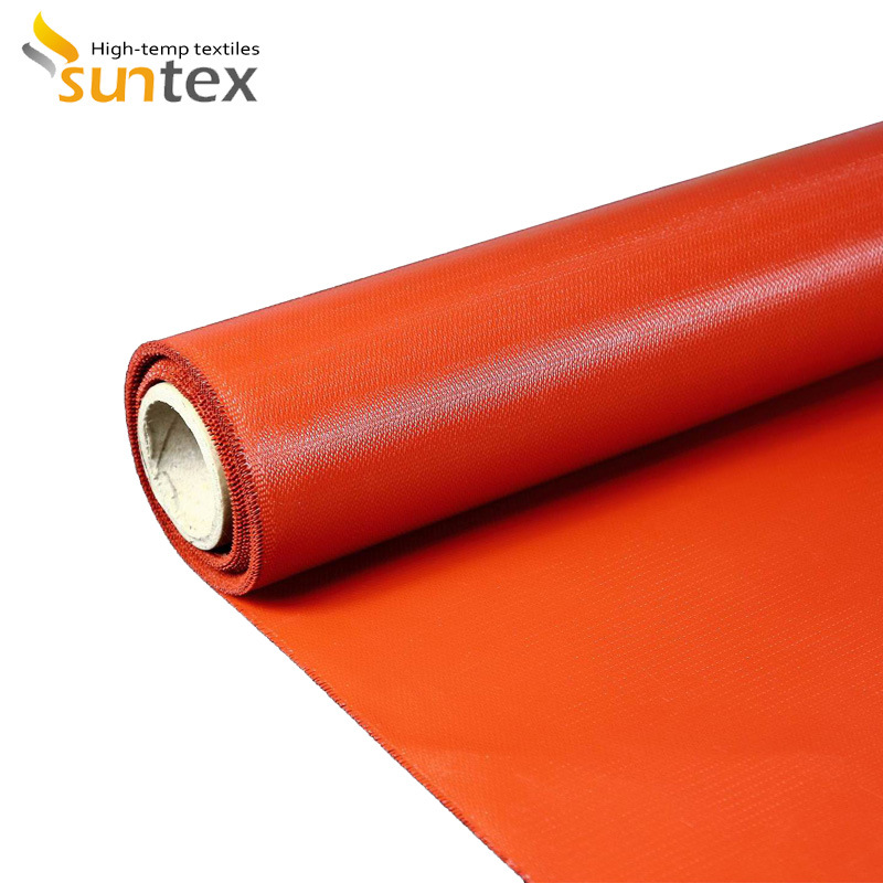 Double Sided Silicone Coated Fiberglass Fabric for Thermal Insulation & Fire-Protection & Expansion Joints