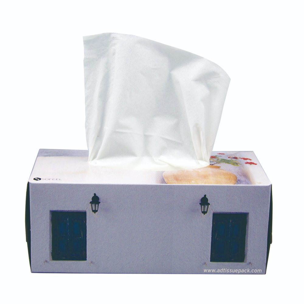Wholesale Daily Use Toilet Paper Box Facial Tissue Paper 2 Ply 180 Sheets Virgin Pulp