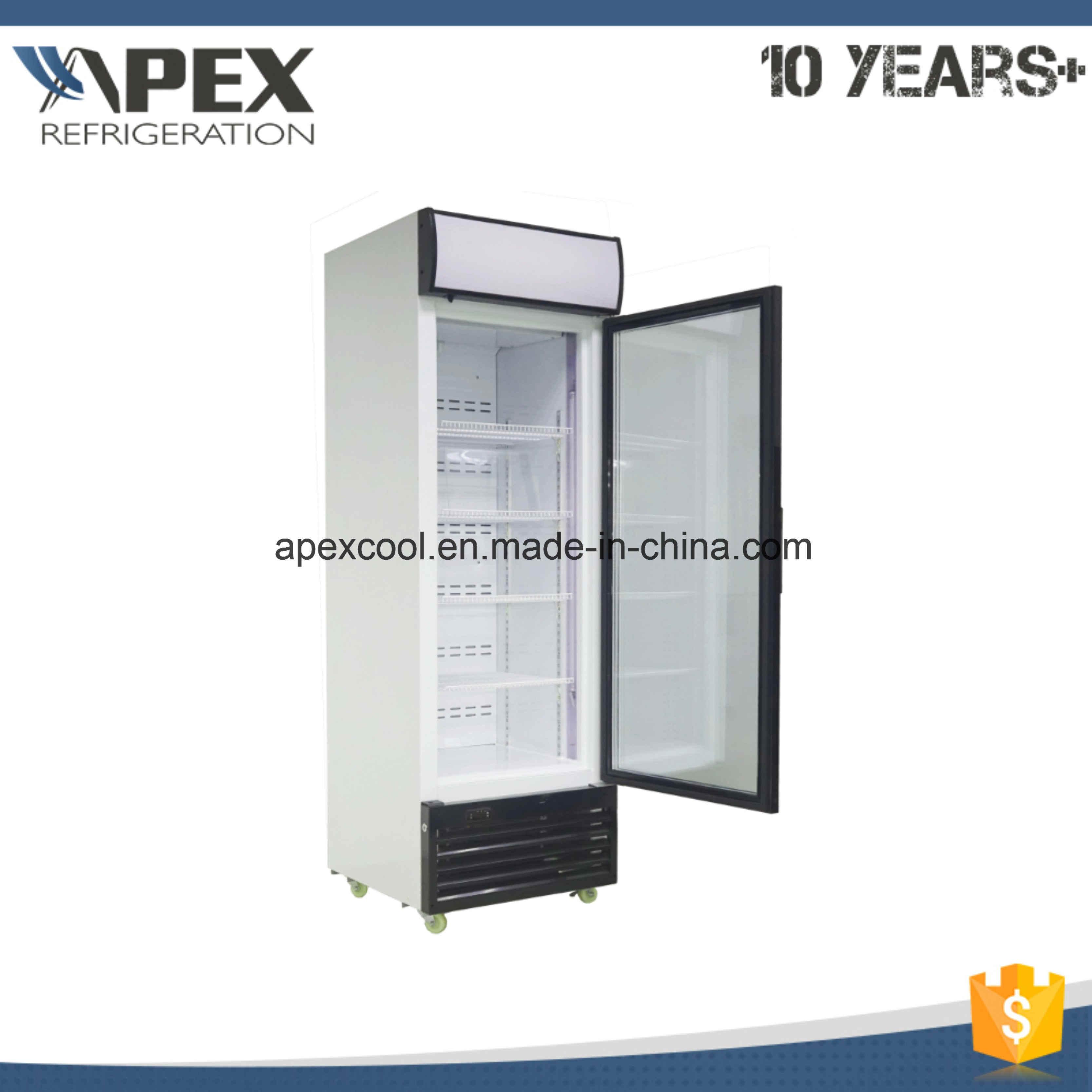 Upright Freezer Showcase Glass Door Fridge