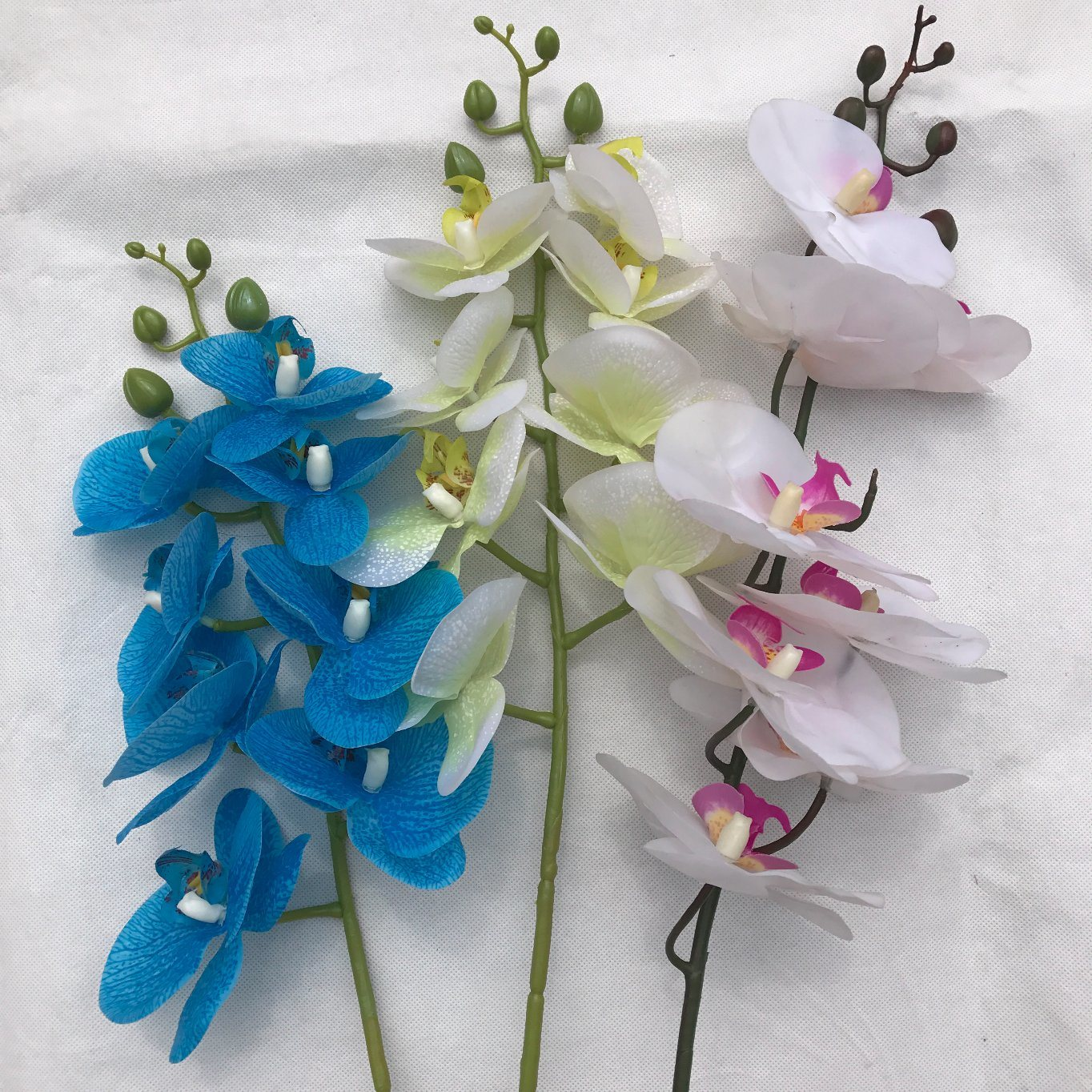 China artificial butterfly orchid silk flower bouquet phalaenopsis artificial butterfly orchid silk flower bouquet phalaenopsis wedding home decoration izmirmasajfo