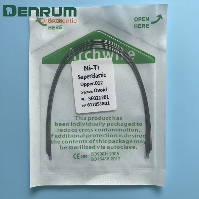 China Denrum Factory Orthodontic Supper Elastic Niti Arch Wires ...
