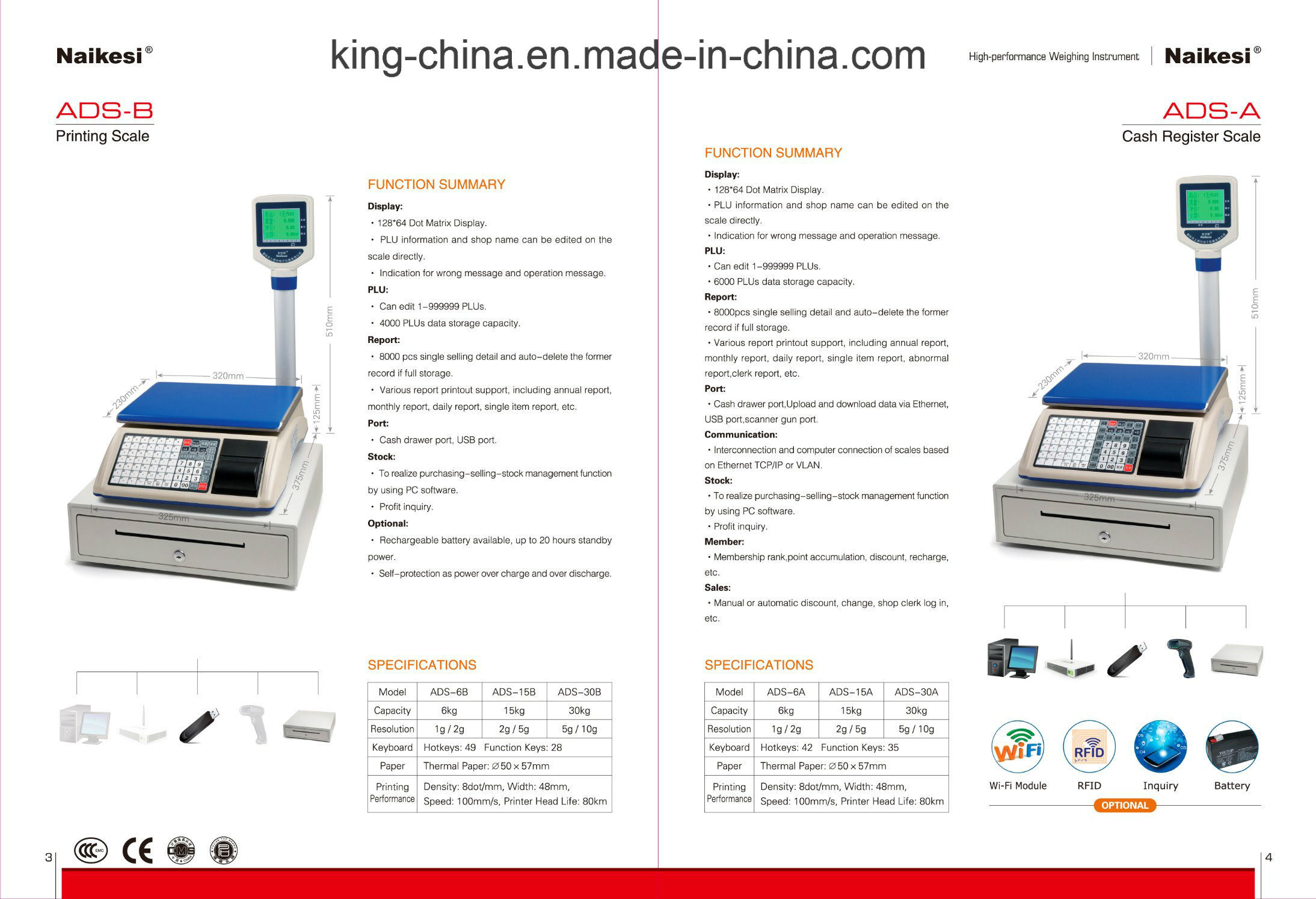 Color Screen Digital Barcode Label Scale for Supermarket Superstore pictures & photos