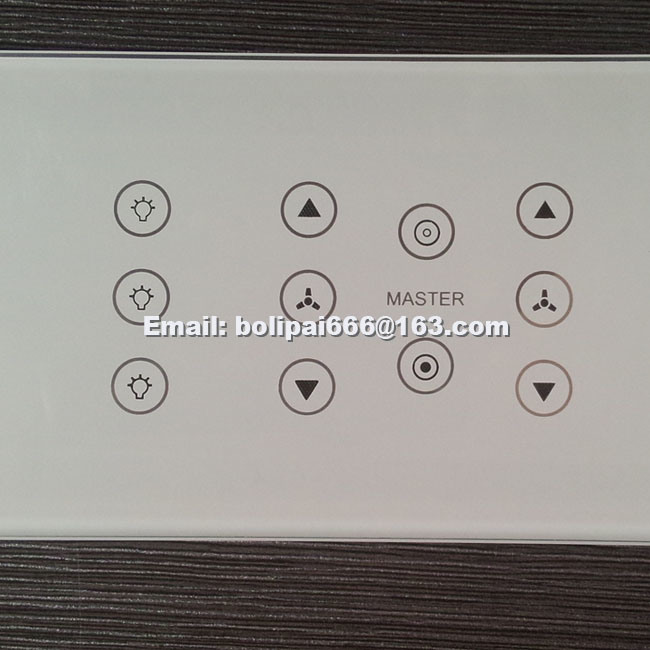 China India Modular Tempered Glass Switch Plates Panel For Gm