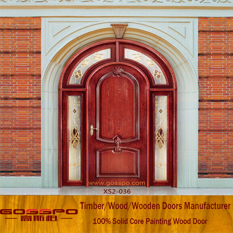 China Residential Wood Arched French Entry Doors Gsp2 036 China