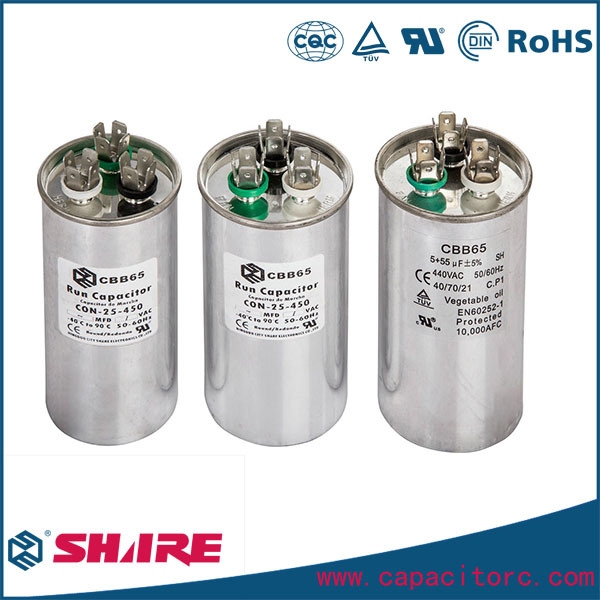 Air Conditioner Spare Parts Cbb65 Motor Run Capacitor