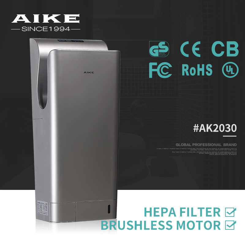 AK2030 ABS Plastic Hotel School Restroom Bathroom Washroom Hygienic Dual Air Jet Hand Dryer pictures & photos