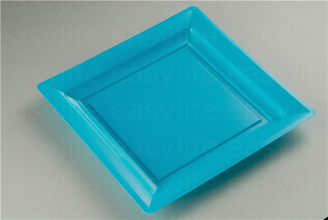 Shape 3 Easylife Various Disposable PS Plastic Square Plate