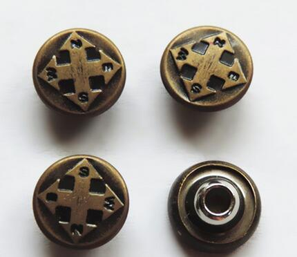 High Quality Electroplated Brass Alloy Rivet Button for Jeans, Denim and Jacket