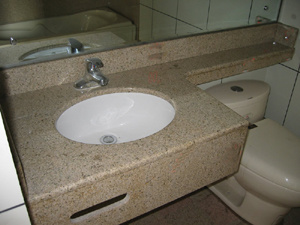 China Banjo Granite Bathroom Vanitytop